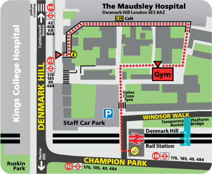 Map of Maudsley Hospital and Grounds